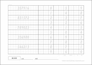 文字練習プリント_数字3