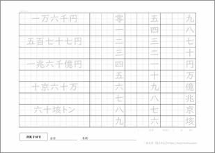 漢数字練習プリント1